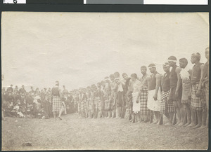 Guard of honour at tangi of Tawhiao - Photograph taken by Enos Pegler