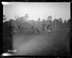 Contested ball at an NZEF rugby match in London