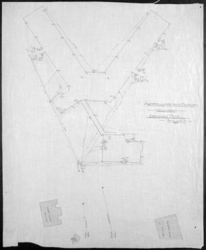 [Crichton & McKay] :Hospital for Infectious Diseases, Wellington. Drainage Plan. Scale 1/16th inch = 1 foot. [1917]