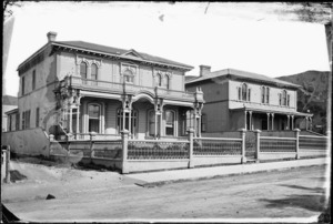 Houses in Hobson Street, Thorndon, Wellington