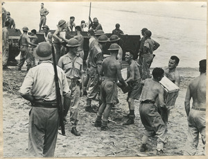 New Zealand soldiers during amphibious training, Pacific area, during World War II