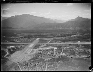 Aerial view of Tontouta Airport, Noumea, New Caledonia