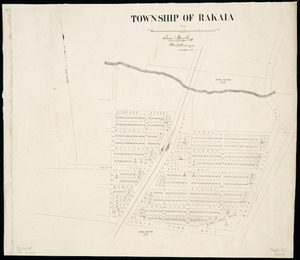 Township of Rakaia [cartographic material] / Sam Hewlings