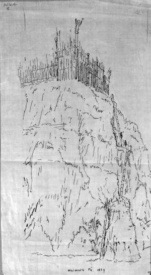 [Heaphy, Charles] 1820-1881 :Waimate Pa / [Charles Heaphy] 1839