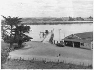 Supermarket and harbour, Horeke, Hokianga, seen from the site of McDonnell's house - Photograph taken by George Robert Bull
