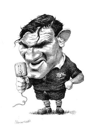 Webb, Murray, 1947- :[Former All Black Peter Jones. ca 1997].