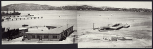 View of the TEAL flying boat terminal, Evans Bay, Wellington