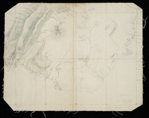 [Creator unknown] :Sketch map, Murihiku, 1851. [Otago and Southland. No signature] [ms map]
