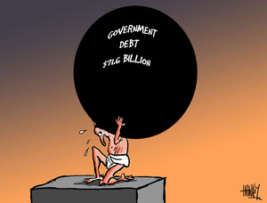 Hawkey, Allan Charles, 1941- :Government debt $71.6 billion. 8 June 2011