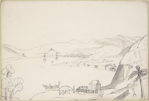 [Crawford, James Coutts] 1817-1889 :Town of Wellington Port Nicholson N. Zealand [1846 or 1847?]
