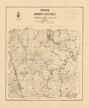 Huiroa Survey District [electronic resource] / J. Homan del. 1879, additions &c by W. Conway Oct. 1924.