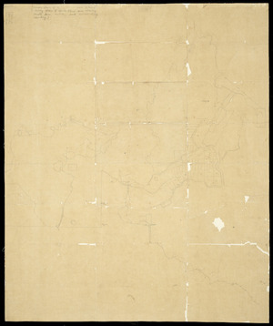 [Creator unknown] :[Survey plan of unidentified area showing small town sections and surrounding country] [ms map]. [ca.1860-70]