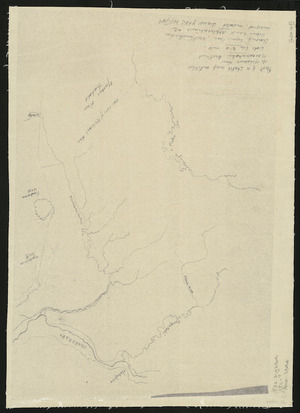 [Creator unknown] :Part of a sketch map entitled Mr McLean's run, Maraekakahu [Maraekakaho] District [copy of ms map]. [186-?]