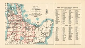 Map of the Auckland Land District showing survey districts [electronic resource].
