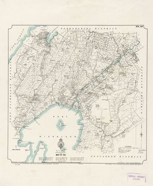 Map of the Belmont Survey District [electronic resource] / F.J. Halse, delt.