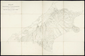 Map of the Province of Canterbury, New Zealand [cartographic material] / compiled and drawn in the Survey Office, Christchurch.