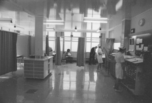 Interior of the new casualty department, Wellington Hospital, Newtown