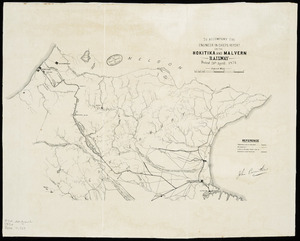 To accompany the Engineer in Chief's report on the Hokitika and Malvern railway, dated 20th April, 1874 [cartographic material].