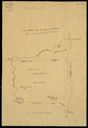 [Creator unknown] :Rough sketch Govt. purchase at Okawa. [ms map]. [ca.1859]