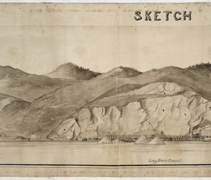 Severn, Henry A :Sketch panorama of Thames Goldfield [Section three of seven]. - [1875?]