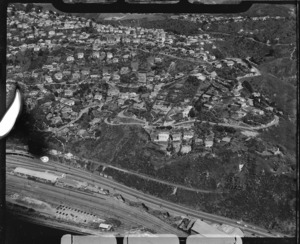 Aerial view of part of Wadestown and Highland Park, Wellington