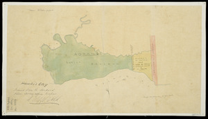 [New Zealand. Dept. of Land and Survey Information. Napier Office.] :Hawke's Bay. [Aorangi Native Reserve and adjoining land] [ms map]. Traced from the standard plan. [ca.1856]