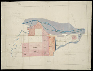 [Creator unknown] :Rural land at Aorangi in the district of Ahuriri to be offered for sale by auction, 26 November, 1857 [map with ms annotations].