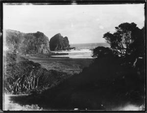 View of south Piha Beach