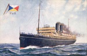 [Postcard]. S.S. Morea. Raphael Tuck & Sons [ca 1915-17].