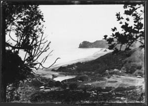 View of Piha looking north