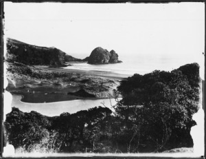 View of south Piha Beach