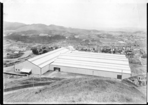 Newly completed Winter show buildings, John Street, Mount Cook, Wellington