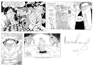 Various Artists :[David Lange. A collection of four cartoon photocopies featuring David Lange and the nuclear issue].