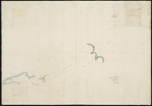 [Creator unknown] :Rough plan of proposed roads to Rotorua from Tauranga [ms map]