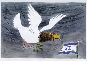 Garland, Nicholas :[The dove of peace with the head of an American eagle. Daily Telegraph 31 August 1996].