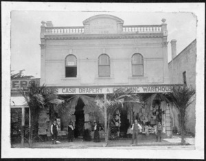 Court's drapery and clothing store, Te Aroha Building, Bank Street, Whangarei - Photograph taken by Farr