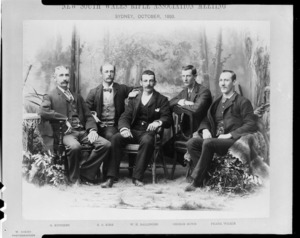 Petone Martini-Henry Rifle Club team at a New South Wales Rifle Association meeting in Sydney - Photograph taken by William Henry Scott Kinsey
