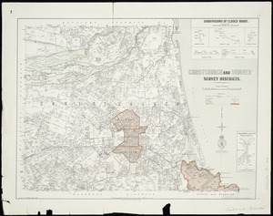 Christchurch and Sumner Survey Districts [cartographic material] / drawn by G.P. Wilson.