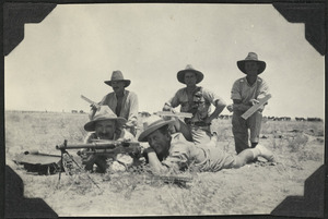Soldiers in a Hotchkiss machine gun team, Egypt