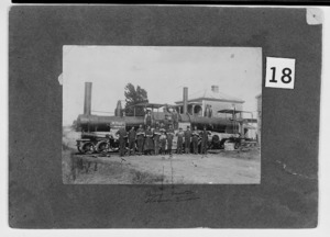 Foundry workers by steam locomotives built by G and D Davidson