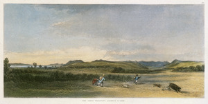 [Brees, Samuel Charles] 1810-1865 :The great Wairarapa district & lake [Drawn by S C Brees. Engraved by Henry Melville. London, 1847]