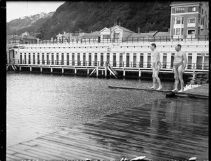 Winter swimmers at Te Aro baths