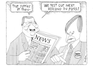 "Brockie, Bob :""That settles it then - we test our next volcano in Paris!"". National Business Review 6 October 1995."