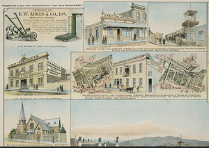 F W Niven & Co. :E W Mills & Company Ltd; Grey Valley Coal Company Ltd; Wellington Biscuit and Confectionery Company; and St Paul's Church of England Cathedral Wellington [ca 1895]