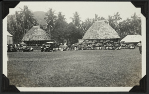 Conference of Samoan chiefs at Vaimoso