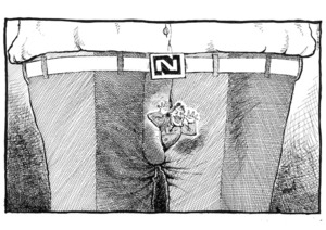 Paynter, Bill :[National Party Logo. The Independent 23 October 1992].