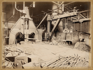 The forge at Addington railway workshops - Photograph taken 1898 by F W Dutch