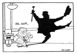 Scott, Tom :`Bye...sniff...'. Evening Post 23 August 1996.