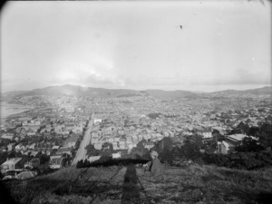 Part 2 of a 3 part panorama looking over Wellington City