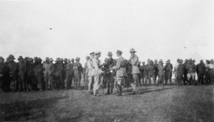 New Zealand Expeditionary Forces at a sports day at Richon Le Zion, Palestine, during World War I